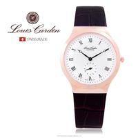 Louis Cardin Men's Slim Design Dress Watch Stainless Steel Sapphire Crystal Swiss Made