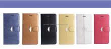 Good quality Flower umbrella folding leather filp with button cover for Iphone 6/6S/6S plus case