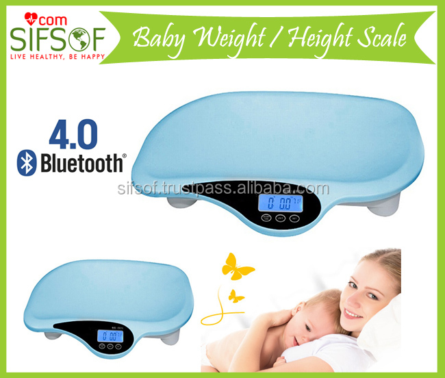 Bluetooth Weight Measuring Baby Scale With Music Function, Digital BLT New Weighing Baby Scale, Measuring Tape, SIFBSCAL-6.1