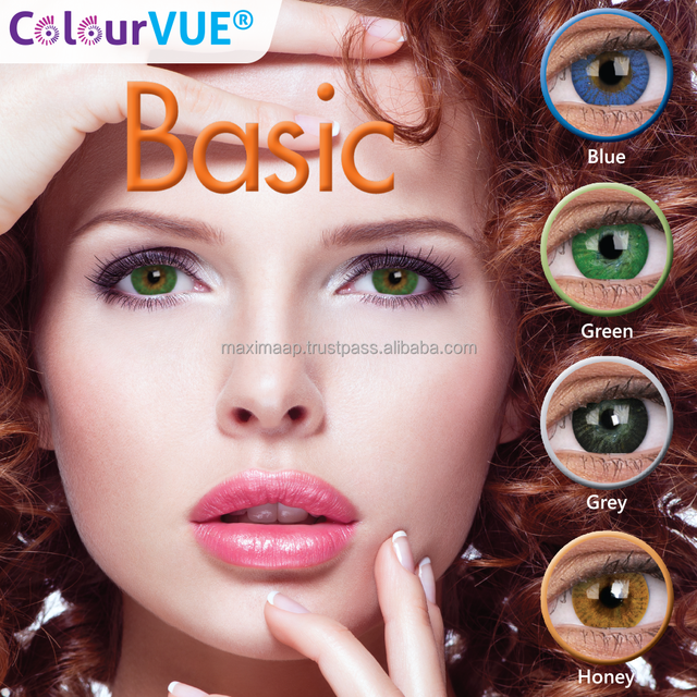 OEM bright contact lens Certified by UK British Institute cosmetic color lenses ready stock