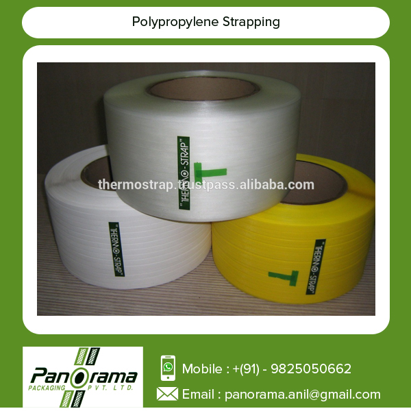 Tested and Recommended Machine Rolled Polypropylene Straps for Packaging
