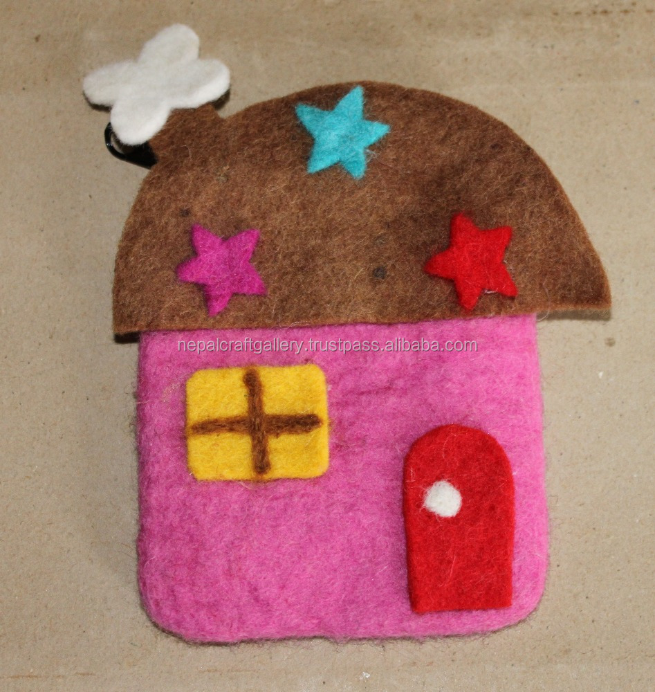 HOOUSE DESIGN FELT COIN PURSE