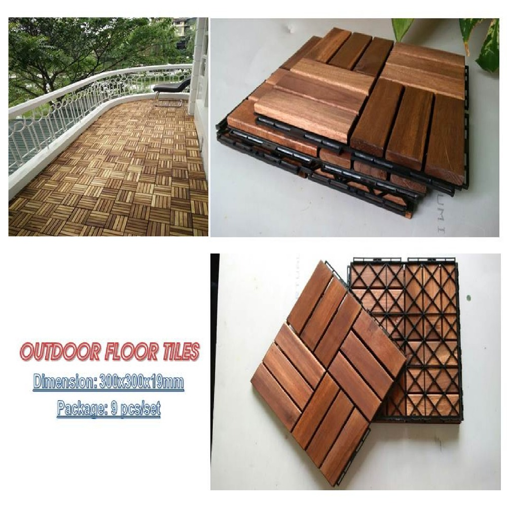 new model interlocking wood decking with plastic Base, floor tile