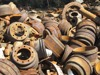 Cast iron motor and drums scrap