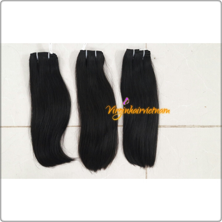 Double Weft Straight Hair Extensions Real Human Hair Original Cambodian Hair