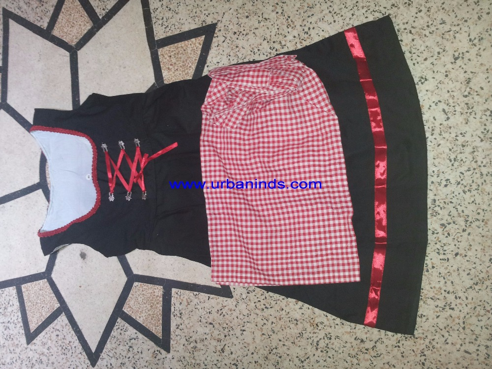 Beautiful Embroidery Black & Red Color Women Dirndl, German Dirndl, Trachten Dirndl, Bavarian Dirndl, Traditional Dirndl