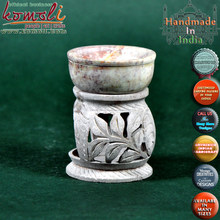 Finest Hand Carved Soapstone tea light oil burners wholesale oil burners oil burners for tealight candles