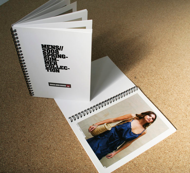 A5 wire-o bound spiral bound catalog brochure printing