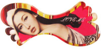 Fashion Lady's hairpin fancy hair clip barrette headwear jewelry with leaf shape can transfering
