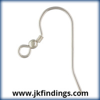 Ear Wire w/Bead & Coil (0.71mm) AT