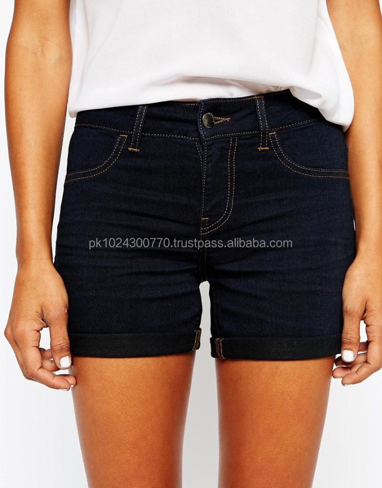jeans women short black denim jeans