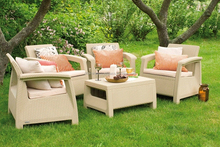 High quality Garden outdoor rattan sofa hotel furniture UK style