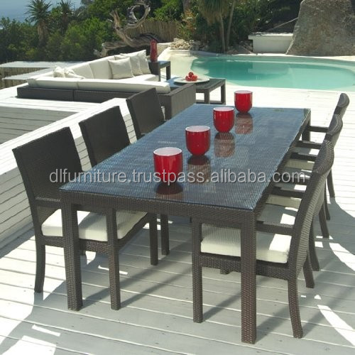 New modern design good quality outdoor metal tube poly rattan furniture