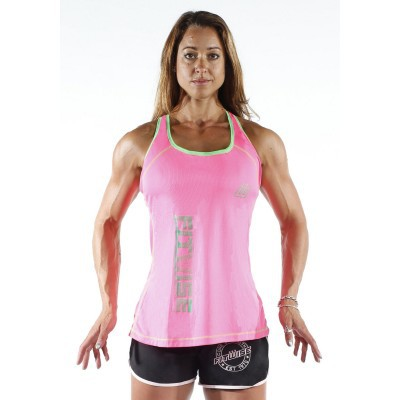 WOMEN'S PINK AND GREEN VEST