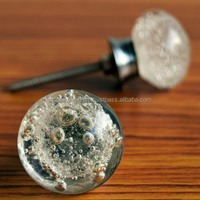 Bubble Glass Cabinet Knob Stylish Door