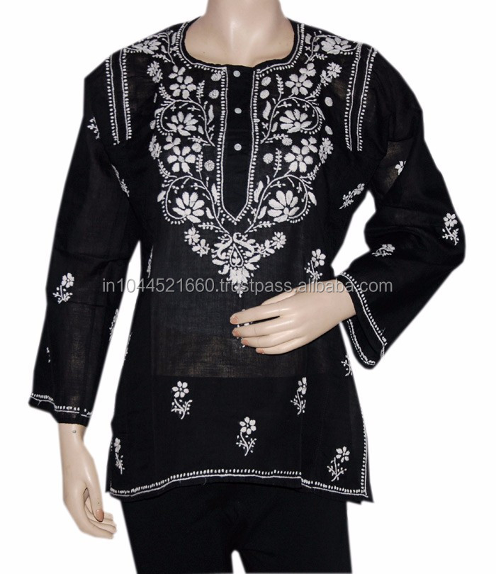 Embroidered lucknow chikan kurtis