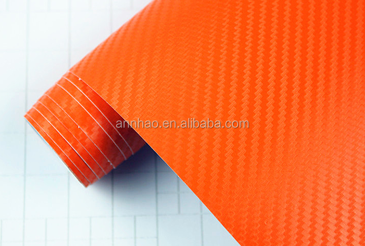Annhao High Polymeric 1.52*28M 3D Blue Carbon Fiber Vehicle Wrap Vinyl