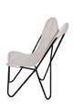 Royal White Canvas High Butterfly Chair with Clip Click Frame