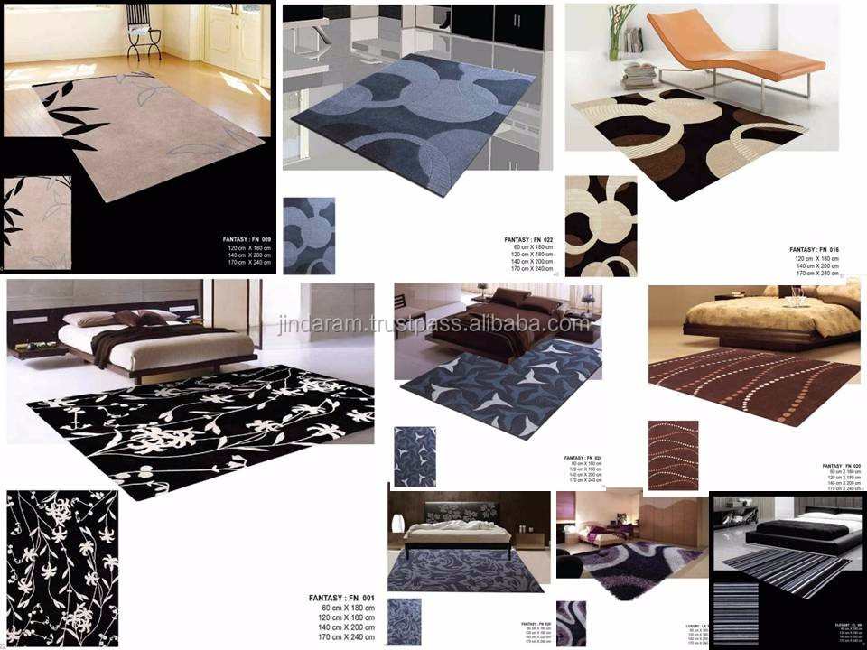 Fancy cotton customised sizes handtufted carpets for homes