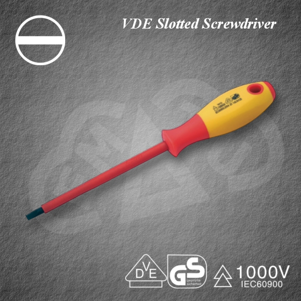Powerful VDE Slotted Screwdriver Insulated tool at reasonable prices