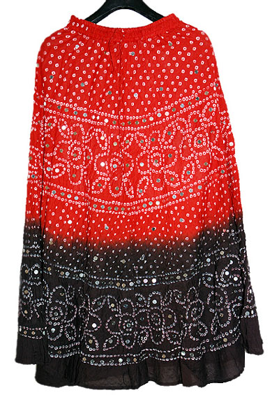 Beautiful Indian Bandhej Skirts