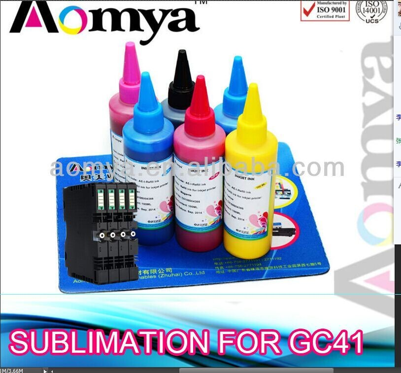 GC41, Sublimation ink for Ricoh SG3100 compatible cartridge, With sublimation