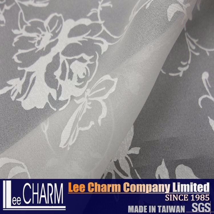 LCSH024PE Taiwan Floral Organza Fabric For Dress