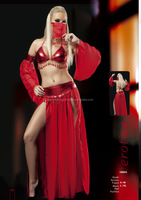 sexy belly dancer costume red cosplay high quality made in Turkey