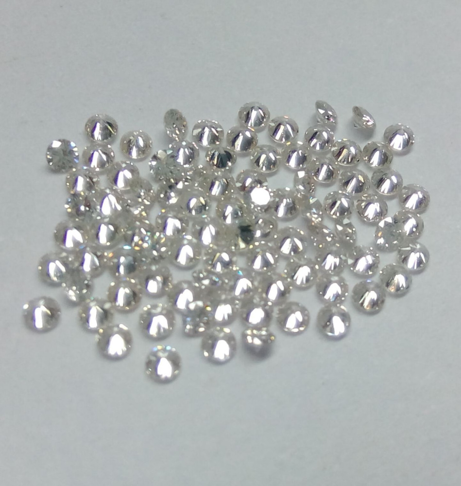 1.40 mm Calibrated Size Natural White Color Round Brilliant Cut Loose Diamond Manufacturer India IJ Color VS Quality