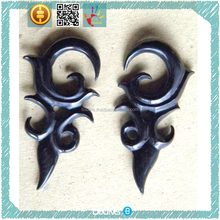 Top Selling Model Body Piercing Sterilized Black Horn Tribal Ear Plug Gauges in Handmade