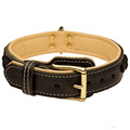 Customized High quality Leather large dog collar