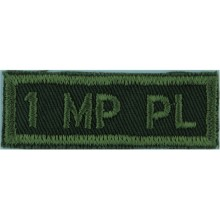 rmy Green On Olive Em1 MP Pl Canadian Abroidered Non-British Army shoulder title