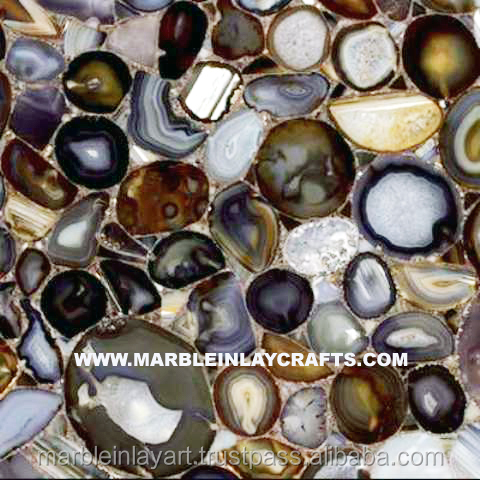 Natural Agate Stone Floor Beautiful Tile
