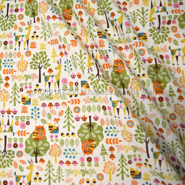 Lille skip printed thin cloth cotton made in Japan for sale