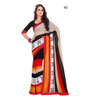 Latest online Surat Fancy Party Wear Stylish Indian Bollywood Designer Replica net Saree / Sari / Shari