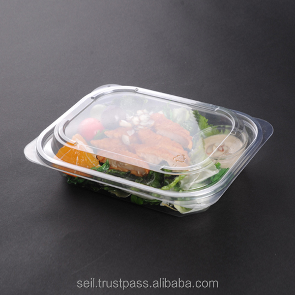 Clear Plastic container with lid , Disposable Takeout container ,