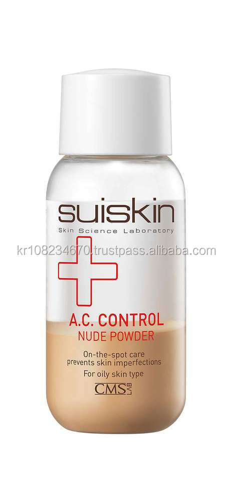 Suiskin A.C. Control nude powder, dark spot remover, skin care, anti acne, ance scar treatment, oily skin, Korean cosmetics