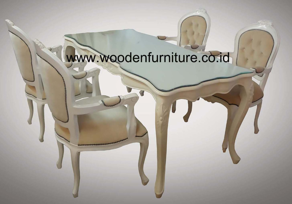Antique Reproduction Dining Set French Style Dining Chair Classic Dining Table European Style Home Furniture