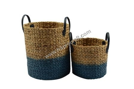 Wholesale store modern style b eco-friendly handicraft fashionable water hyacinth