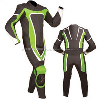 2014 Racing Leather Motorcycle Green Black Red Blue One Piece Suit