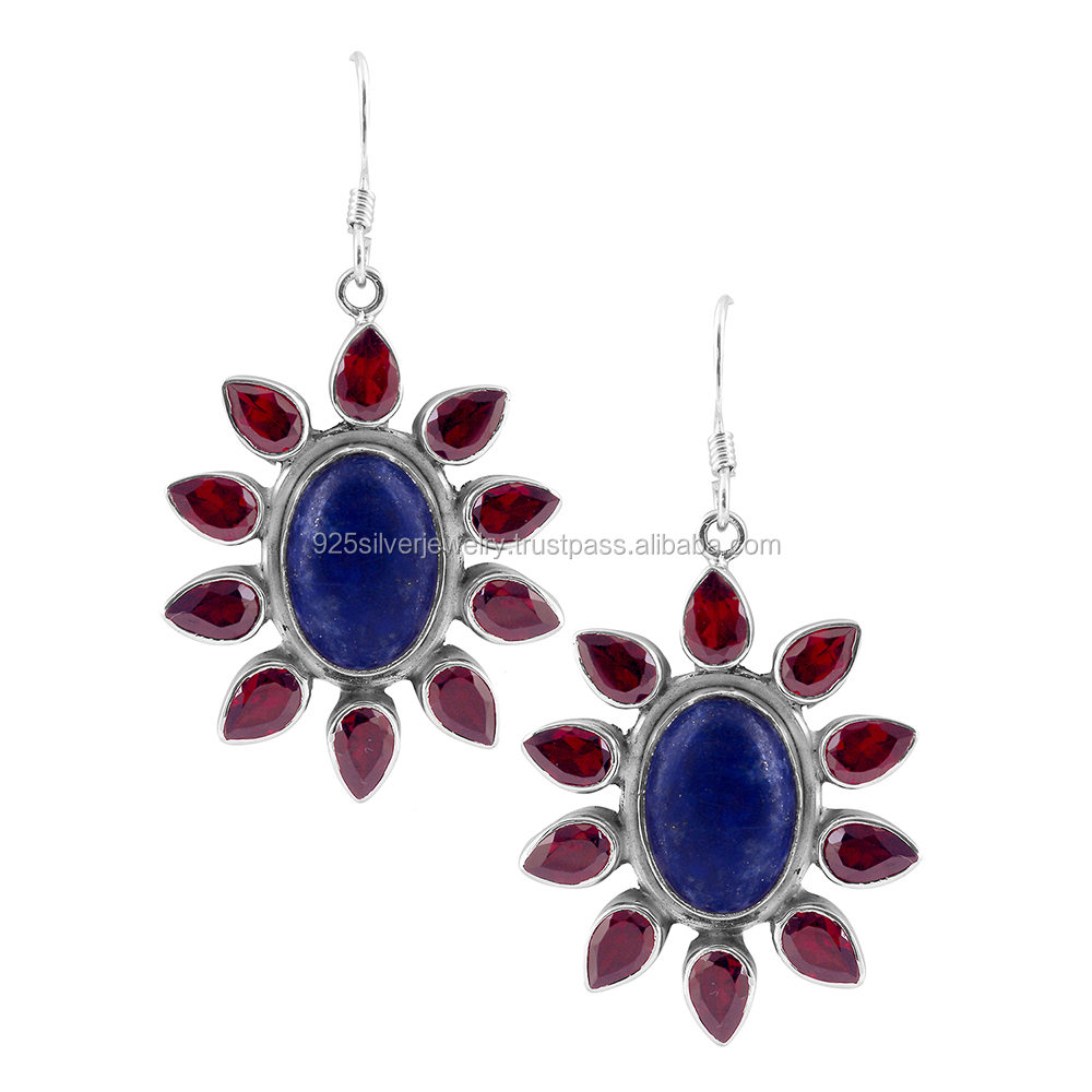indian gemstone earrings wholesale silver jewelry