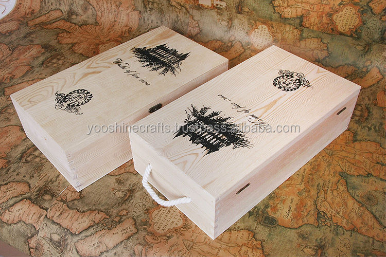 Wooden box, 500ml Wine box, 750ml wine box, 500ml olive oil box, Double bottles wine box, Pine box, two bottles wine box
