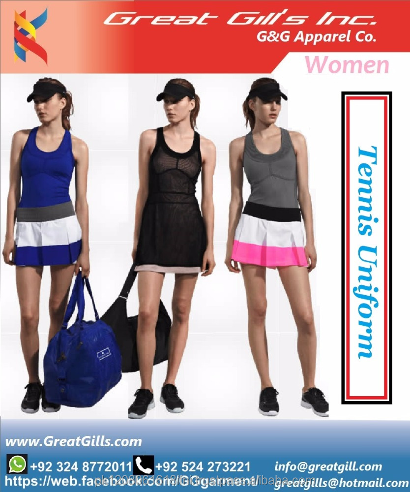 V-back Tennis Dress/Fashion Sport best design Tennis / Badminton Uniforms