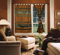Indian Handcrafted Silk Brocade Work Curtains Made in India