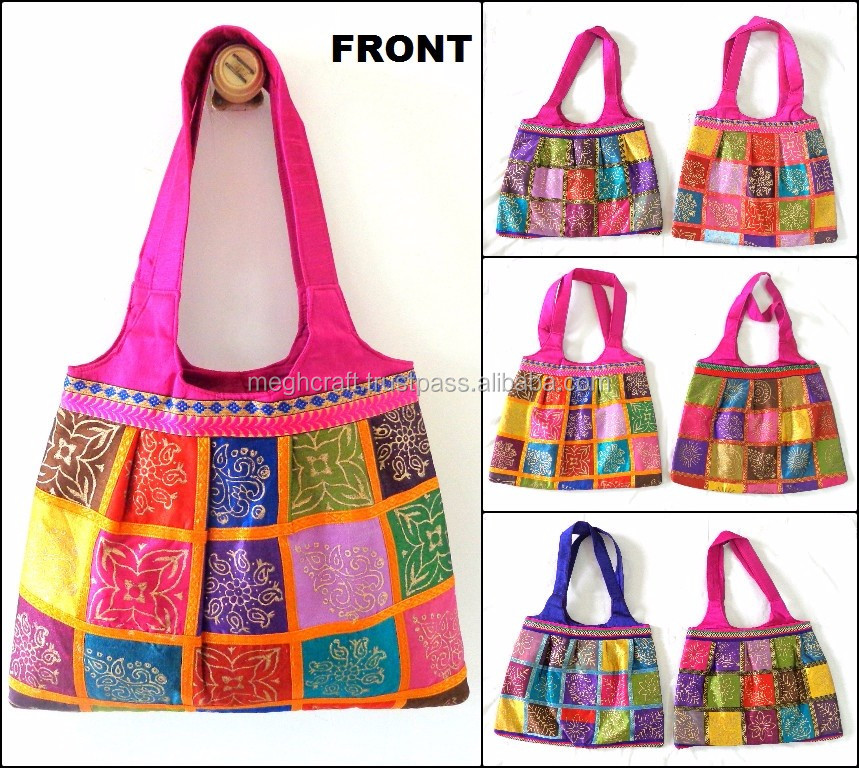 Wholesale Kutch Embroidered Shoulder bag /Boho Hippie Shoulder Bag/Indian vintage embroidered shoulder bag/Bohemian style bag