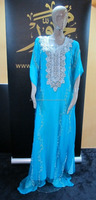LIGHT BLUE KAFTAN WITH SILVER