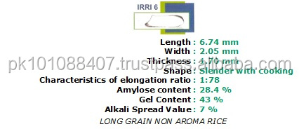 PAKISTAN BEST QUALITY LONG GRAIN IRRI-6 WHITE RICE 5% BROKEN SILKY POLISHED WELL MILLED AND COLOR SORTEXED