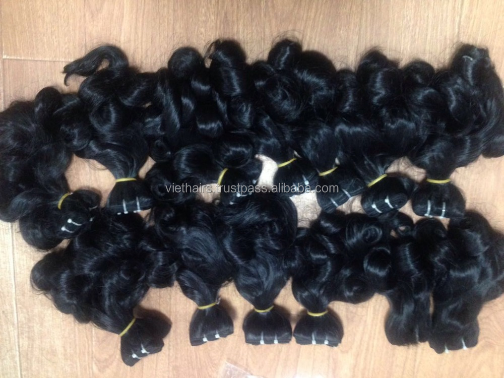 Fumi wavy complete real human hair good quality remy hair weave