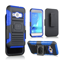 Hybrid Armor Protective Case with 2 In 1 Holster Combo Case For Samsung Galaxy J1 (J120)