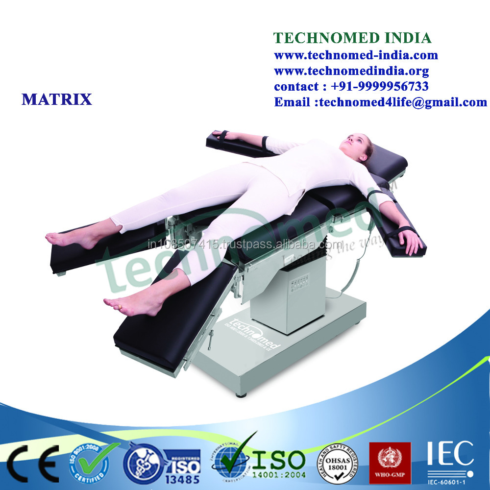 TMI-MATRIX Operating Theatre Table Equipment / Electro-Hydraulic Surgical Operating Bed